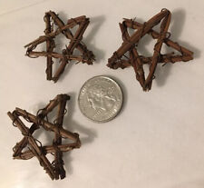 Dollhouse Miniature Primitive STAR Wreaths Wall Decor Natural Rustic Wire & Wood