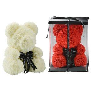 Rose Bear Flower Teddy Birthday Anniversary Gift 40 cm with GIFT BOX