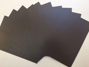 Bulk 10 x A4 Blank Plain Front Magnet Magnetic Sheet Craft Children Office 1mm