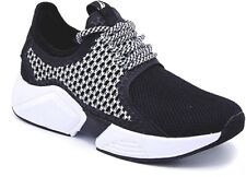 NAUTICA CHARVI LOW ATHLETIC SPORTS TRAINER WOMEN SHOES BLACK/WHITE SIZE 9.5 NEW