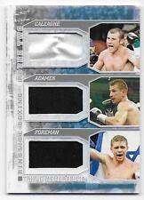 J CALZAGHE   T ADAMEK   Y FOREMAN 2011 Ringside Boxing Triple Memorabilia Card