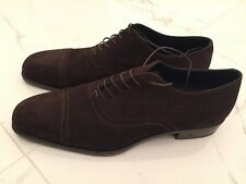 Rare BN Tanino Crisci Italy Handmade Suede Brown Mens Shoes. Size 10.5