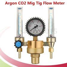 Argon CO2 Mig Tig Flow meter Regulator Welding Weld Machine Double Backpurge