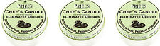 3 x Prices Chefs Scented Candle Tin Lid Eliminates Kitchen Cooking Odours