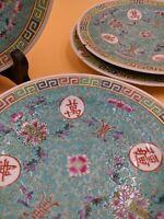 Mun Shou Green Longevity Porcelain Side Plate Famille Verte (4 available)