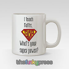 Personalised Subject Maths Science End Of Term Year Teacher Gift Present Mug Cup