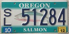 GENUINE American Oregon Salmon Graphic USA License Licence Number Plate 51284