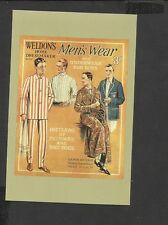 Nostalgia Postcard Advertised Wedon's Home Dressmaker Men's Wear-Pyjamas-Shirts