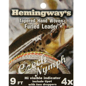 Hemingway Czech Nymph Furled Leader