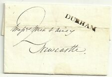 1793 DURHAM POSTMARK ON J GRIFFITH LETTER TO WREN & AIREY IN NEWCASTLE UPON TYNE