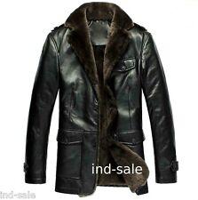 Custom Tailor Made All Size Genuine Blazer Pea Coat Nappa FUR LEATHER JACKET EDH