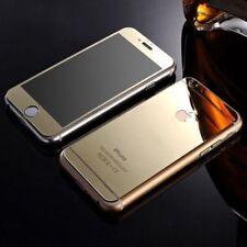 Nuevo efecto de espejo Oro Cristal Templado Protector Para iPhone 5,5S delantero y trasero