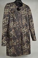 Dana Buchman Blazer Evening Dress Jacket Leopard Print 2 Womens