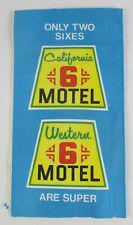 c1960s MOTEL 6 Towel Napkin CALIFORNIA WESTERN SUPER Logo Compliments Management