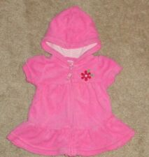 Carters Newborn Baby Girls Swimsuit Cover Up with Hood Bright Pink