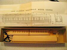 La Belle Woodworking Company 1905 Wood Coach Closed Vestibule Model Railroad Kit