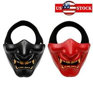 Terror Japan Mask Cosplay Samurai Devil Grimace Costume Party Ball Tactical Mask