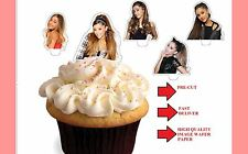 ariana grande X24 stand up cup cake toppers wafer paper *precut*