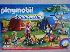 Playmobil Buzzer Fun 6888 Tent Camp with led-lagerfeuer - NIP