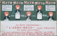 'Meto' Metal Cleaner 1915 French Color Litho Advertising Postcard, Copper Pots