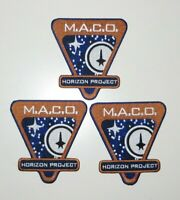 "Star Trek Horizon Project MACO 4"" Embroidered Iron On Patch Set Of 3"