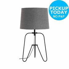 Argos Home Herbert Tripod Table Lamp - Black & Grey