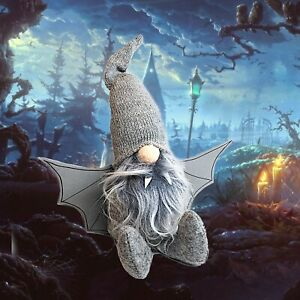 Halloween Gnome Bat Gonk Grey Decoration Funny Scary Decor Best Ornaments Gift
