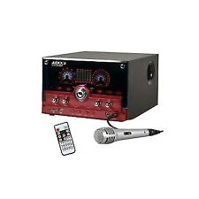 Majestic AUDIOLA 2.1 Audio System USB SD AUX Microphone Remote Red Subwoofer