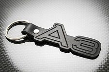 AUDI A3 Luxury Leather Keyring Keychain Schlüsselring Porte-clés RS3 S3 1.8T TDi