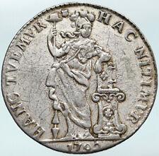 1792 Netherlands Dutch Republic Genuine OLD Antique Silver 1 Gulden Coin i88125