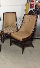Lexington Tommy Bahama Landara Royal Palm Dining Side Chairs Wood Fabric Set 2