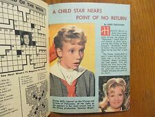 1963 Wash.  Evening Star TV Mag(HAYLEY MILLS/VIC MORROW/RICK JASON/PAUL RICHARDS