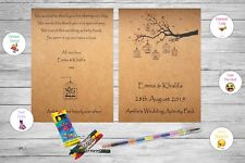 Personalised Childrens Wedding Activity Pack Book Favour Rustic Vintage AB158