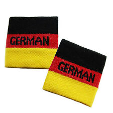 Pair of German Flag Wrist Sweatband Cheering Squad Sports Fans Germany Wristband