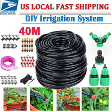 40M/131Ft Micro Drip Irrigation System Garden Greenhouse Plant Watering Hose Kit