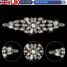 Silver Rhinestone Diamante Bridal Wedding Sew On Motif Crystal Applique
