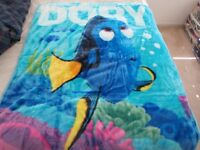 "NEW! DISNEY DORY Finding Nemo blue Baby blanket toddler Boys Girls 40""x50"" Plush"