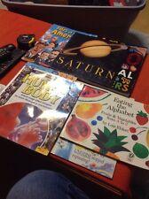 Children's Educational Books lot of 7 - Tracing Sticker Human Body Alphabet