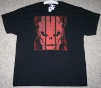 New 2XL Gildan Black Red Tee T-Shirt Cotton Men's Top Short Sleeve Graphic Man's