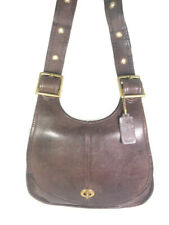 Vintage 1970s Pre-Creed Coach Brown Leather Adjustable Crescent Bag