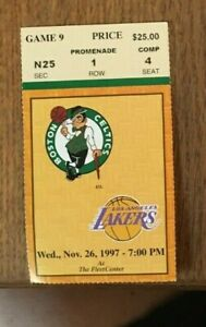 Celtics v Lakers 11/26/1997 Kobe Bryant 14 points