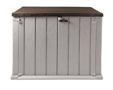 Mülltonnenbox Storer Light XL 1330 L grau-braun Gerätebox abschließbar NEU