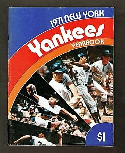 1971 New York Yankees Yearbook #1, 88 pages, Thurman Munson, Mel Stottlemyre