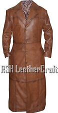 Nightmare Batman V Superman Dawn of Justice Distressed Brown Leather Trench Coat