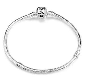 """Authentic 925 Sterling Silver 7"""" Love Charm Bracelet US Shipping"""