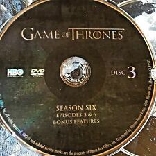 Game of Thrones Season 6 SIX disc 3 Replacement Disc DVD ONLY