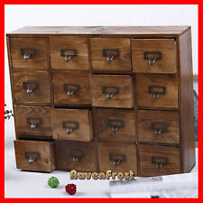 French Provincial Timber Pigeon Hole Mounted Chest of 16 Drawers Storage A51