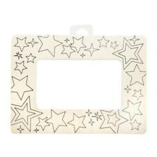 Darice 9191-0098 Wood Color in Frame Stars, Multicolor