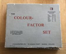 VINTAGE - THE COLOUR - FACTOR SET - A Mathematical Model - Educational Maths Toy