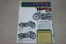 195389) Norton - Modellprogramm Niederlande - Prospekt 1933